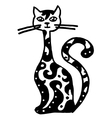 kitten pattern with long neck vector image