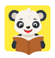 Little Panda Bear Reading A Brown Book