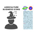 magic person icon with agriculture set vector image vector image