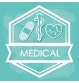 Medical and healthy lifestyle design vector image vector image