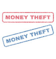 money theft textile stamps vector image vector image