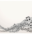 Musical Background Image with Free Space vector image vector image