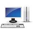 pc desktop vector image