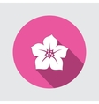 Petunia flower icon Floral symbol Round circle vector image