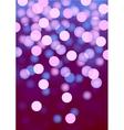 Purple festive lights background vector image