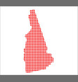 red dot map of new hampshire vector image vector image