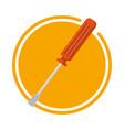 screwdriver repair tool vector image vector image
