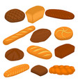 set of baked bread vector image