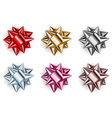 Set of beautiful big bows vector image vector image