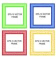 set of multicolored framework for registration vector image
