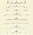 set of vintage line dividers vector image
