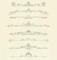 set vintage line dividers vector image