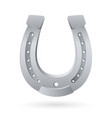 silver horseshoe on white background for design vector image