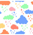 sky background with blue pink green and orange vector image