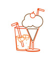 soda and milkshake design vector image vector image
