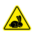 stop rabbit it is forbidden to prohibit bunny vector image vector image