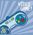 videogame retro gamepad vector image vector image