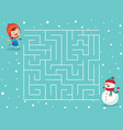 winter maze vector image