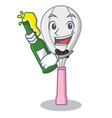 with beer whisk character cartoon style vector image vector image