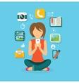 Woman User Smartphone Design Flat vector image vector image