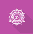 sahasrara beautiful indian ornamental chakra vector image