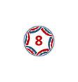 ribbon circle star number 8 vector image