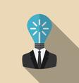 Concept Lamp of New Idea vector image
