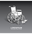 Wheelchair hand drawn vector image