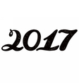 2017 numbers for quote lettering vector image vector image