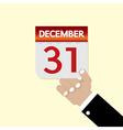 31st December Calendar vector image vector image