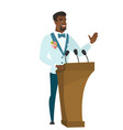 african groom giving a speech from tribune vector image vector image