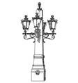 ancient lantern vector image