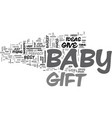 babygift text word cloud concept vector image vector image