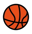 basketball ball equipment icon vector image vector image