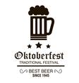 beer festival oktoberfest design vector image vector image
