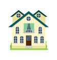 big american yellow cottage with big rooms and vector image vector image