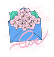 bouquet spring floral cartoon vector image