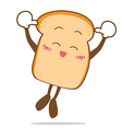 Bread 12 Isolated happy smile jumping Slice of vector image vector image
