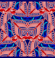 bright paisley seamless pattern floral ethnic vector image