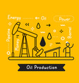 business of a black drilling rig for oil vector image