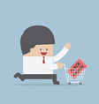Businessman and shopping cart with black friday sa vector image vector image