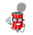 businessman tin can isolated on a mascot vector image