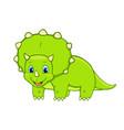 cartoon triceratops cute little badinosaur vector image vector image