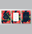christmas camo abstract invitation cards vector image vector image