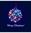 Christmas card with a large ball toy vector image vector image