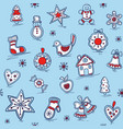 christmas seamless pattern with gingerbreads vector image vector image