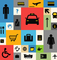 Color tile with travel icons vector image vector image