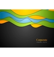 Colorful waves corporate design
