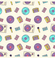 creative seamless pattern with retro analog music vector image vector image