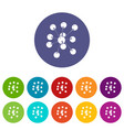 cresols molecule icons set color vector image vector image